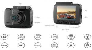 دوربین خودرو ۴k Wifi