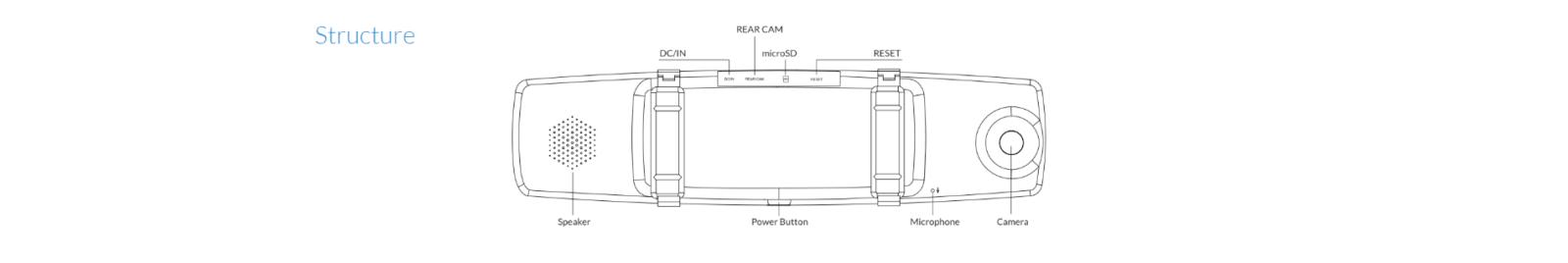 مشخصات دوربین آینه خودرو شیائومی