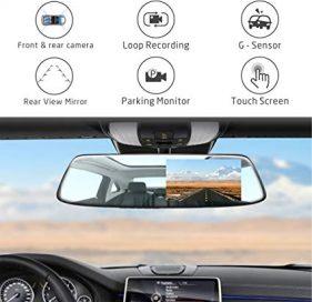 مشخصات دوربین خودرو آینه ای لمسی
