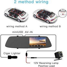 نصب دوربین آینه ای لمسی خودرو