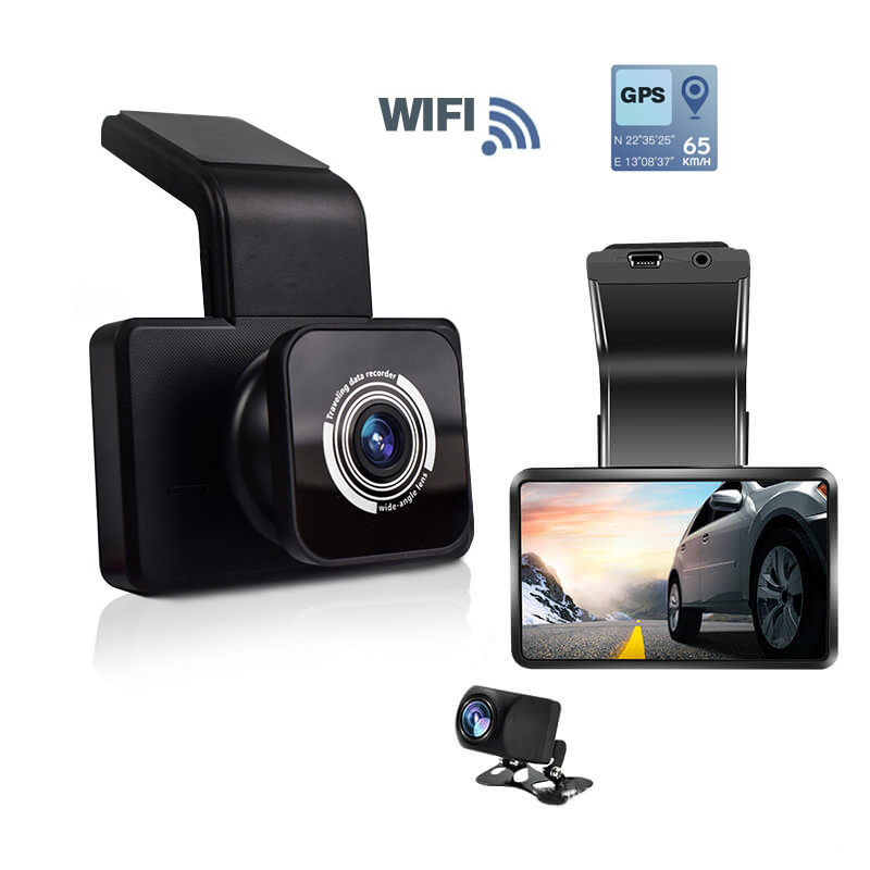 دوربین خودرو وای فای جی پی اس دار دو دوربین k10